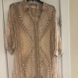 Chico's Tunic Blouse Size 3